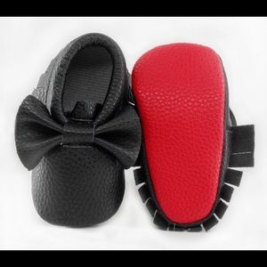 Other - Baby Girls Black Bow Moccasins